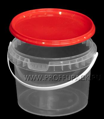 Крышка к ведру 0,4л, 0,5л, д-р 100мм (КВ-100) Красная Форма 1-4