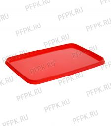 Крышка к банкам ПП 400мл., 280мл. прямоугольная 91 ПЕРИНТ Красная