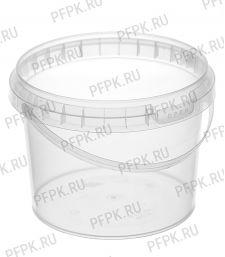 Ведро 0,8л прозрачное, д-р 131мм (без крышки)