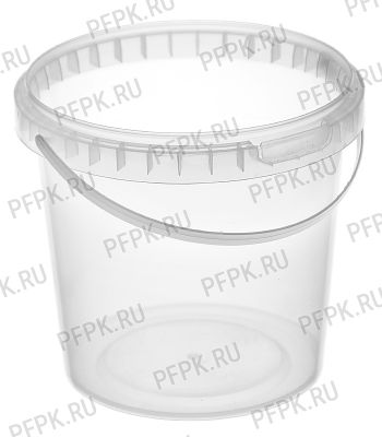 Ведро 1л (без крышки) Прозрачное