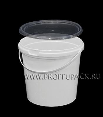 Ведро 1л (без крышки) Белое