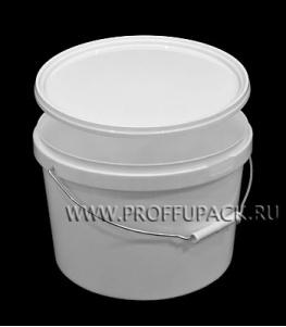 Ведро 11л, д-р 300мм (без крышки) Белое (металлическая ручка)