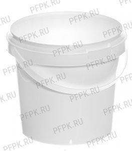 Ведро 1л белое, д-р 131мм (без крышки)