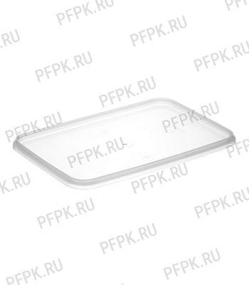Крышка к ведру 2л, прямоугольная, к банке ПП 1000 мл 191 (КК-191) Прозрачная