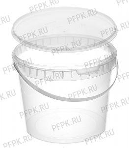Ведро 2,3л (с крышкой КВ-170) Прозрачное