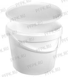 Ведро 2,3л (с крышкой КВ-170) Белое