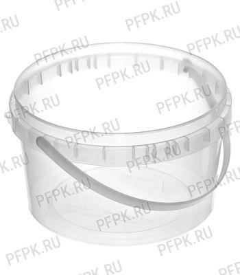 Ведро 0,4л прозрачное, д-р 100мм (без крышки)