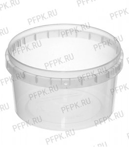 Ведро 0,4л без ручки прозрачное, д-р 100мм (без крышки)
