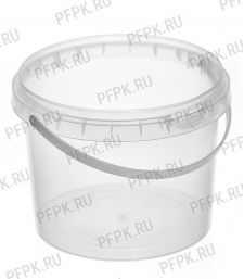 Ведро 0,55л прозрачное (без крышки )
