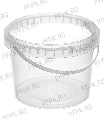 Ведро 0,8л прозрачное, д-р 122мм (без крышки)