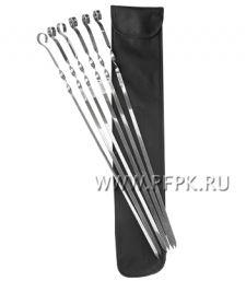Шампуры плоские 61см (6 шт в чехле) 51110