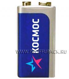 Батарейки КОСМОС 6F22 (Крона) солевые (спайка 1 шт)
