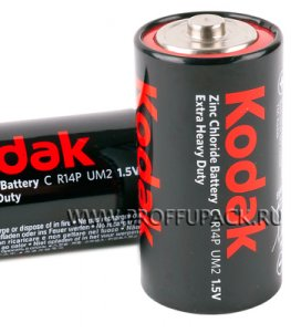 Батарейки KODAK R14 (C) солевые (спайка 2 шт)