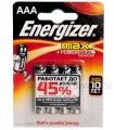 Батарейки ENERGIZER Max LR3 (ААА) алкалин  (блистер 4 шт)