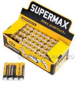 Батарейки SUPERMAX R6 (AA) солевые (спайка 4 шт)