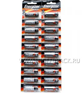 Батарейки ENERGIZER LR6 (АА) алкалин (блистер-отрыв 20 шт)