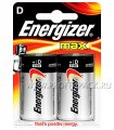 Батарейки ENERGIZER Max LR20 (D) алкалин (блистер 2 шт)