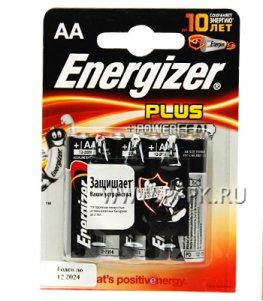 Батарейки ENERGIZER Plus LR6 (АА) алкалин (блистер 4 шт)