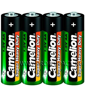 Батарейки CAMELION Super R6 (АА) солевые (спайка 4 шт)