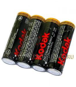 Батарейки KODAK R6 (AA) солевые (спайка 4 шт)