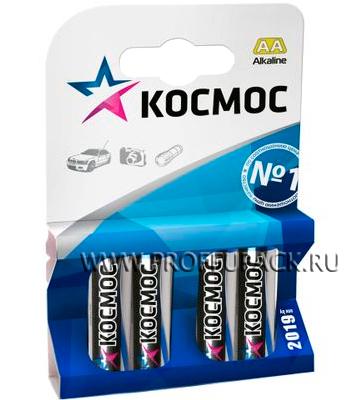 Батарейки КОСМОС LR6 (АА) алкалин (блистер 4 шт)
