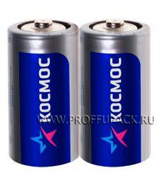 Батарейки КОСМОС R14 (С) солевые (спайка 2 шт)