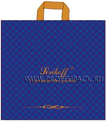 ВЕЛЮР 45х43+3 (100мкм) ПВД, SERIKOFF Велюр (синий)