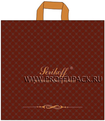 ВЕЛЮР 45х43+3 (100мкм) ПВД, SERIKOFF Велюр (коричневый)