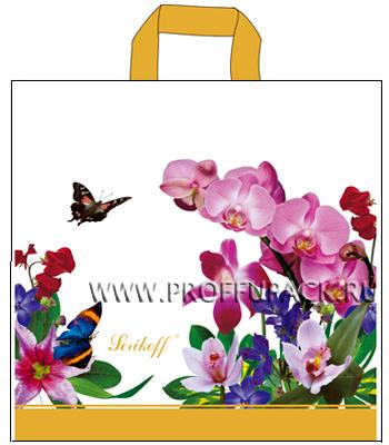 БУКЕТ 39х40+3 (95мкм) ПВД, SERIKOFF Орхидея (белый)