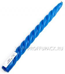 Свеча витая Синяя (401-476)