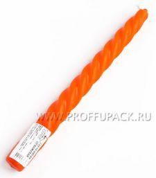 Свеча витая Оранжевая (401-477)