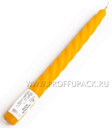 Свеча витая Желтая (401-473)