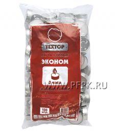 Свечи чайные в гильзах (уп. 100 шт.) эконом Техтор