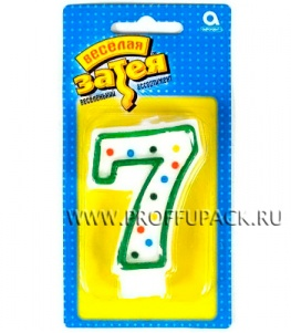 Свеча ЦИФРА № 7