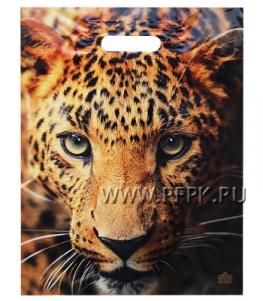 ТРИУМФ, вырубная ручка, 31х40+3 (60мкм) ламинат, ТИКО Взгляд леопарда