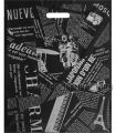 ГАЗЕТА, вырубная ручка, 39х49+3 (85 мкм) ПВД Черная