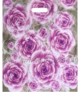 БРОНЗ, вырубная ручка, 38х45+3 (60мкм) ГЛЯНЕЦ, ТИКО Сиреневые розы