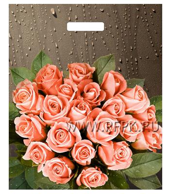 БРОНЗ, вырубная ручка, 38х45+3 (60мкм) ГЛЯНЕЦ, ТИКО Розы после дождя
