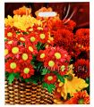 БРОНЗ, вырубная ручка, 38х45+3 (60мкм) ГЛЯНЕЦ, ТИКО Бордовые цветы