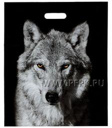 БРОНЗ, вырубная ручка, 38х45+3 (60мкм) ГЛЯНЕЦ, ТИКО Волк