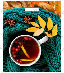 БРОНЗ, вырубная ручка, 38х45+3 (60мкм) ГЛЯНЕЦ, ТИКО Чай с лимоном