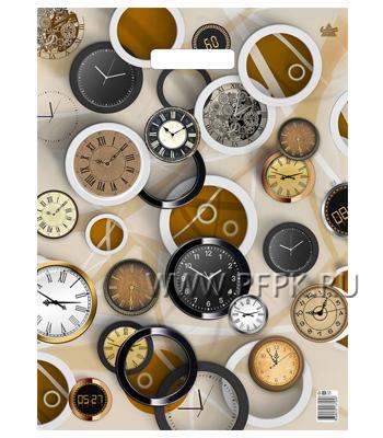 БУТИК, вырубная ручка, 34х45+3 (33мкм) ПНД, ТИКО Часовая коллекция
