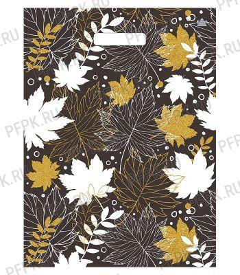БУТИК, вырубная ручка, 34х45+3 (33мкм) ПНД, ТИКО Красота листьев