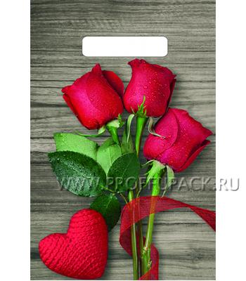 БУТИК, вырубная ручка, 20х30 (30мкм) ПВД, ТИКО Свежие розы