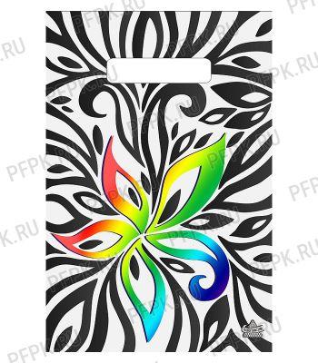 БУТИК, вырубная ручка, 20х30 (30мкм) ПВД, ТИКО Цветочная иллюзия
