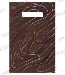БУТИК, вырубная ручка, 20х30 (30мкм) ПВД, ТИКО Шоколад голд