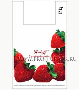 Майка КЛУБНИКА 37+16х60 ПНД (40мкм) SERIKOFF Клубника (белая)