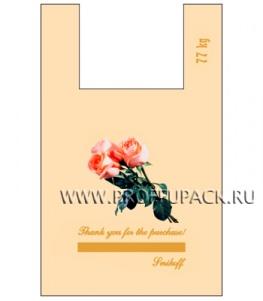 Майка КЛУБНИКА 37+16х60 ПНД (40мкм) SERIKOFF Букет (бежевая)