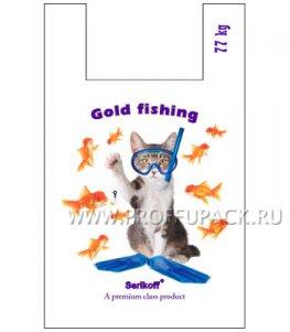 Майка КЛУБНИКА 37+16х60 ПНД (40мкм) SERIKOFF Золотые рыбки