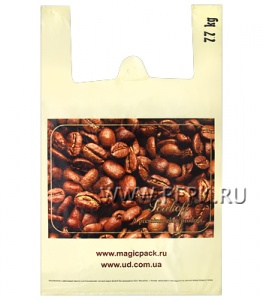 Майка КЛУБНИКА 37+16х60 ПНД (40мкм) SERIKOFF Кофе на бежевом